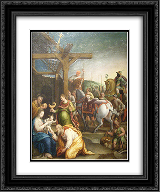 The Adoration of the Magi 20x24 Black or Gold Ornate Framed and Double Matted Art Print by Lavinia Fontana