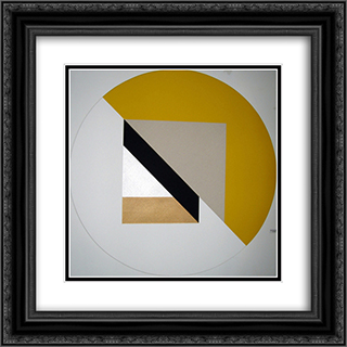 A Sunday Painting 20x20 Black or Gold Ornate Framed and Double Matted Art Print by Leo Valledor