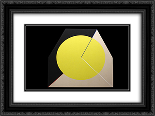 Cubibop 24x18 Black or Gold Ornate Framed and Double Matted Art Print by Leo Valledor