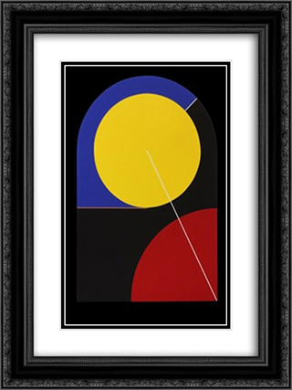 Pow Wow Now 18x24 Black or Gold Ornate Framed and Double Matted Art Print by Leo Valledor