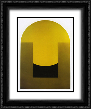 Rising Sun 20x24 Black or Gold Ornate Framed and Double Matted Art Print by Leo Valledor