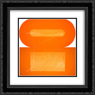 Rothkokoro 20x20 Black or Gold Ornate Framed and Double Matted Art Print by Leo Valledor