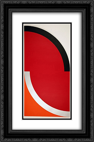 Shapin' Up 16x24 Black or Gold Ornate Framed and Double Matted Art Print by Leo Valledor