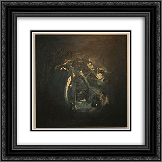 Whose Blues 20x20 Black or Gold Ornate Framed and Double Matted Art Print by Leo Valledor