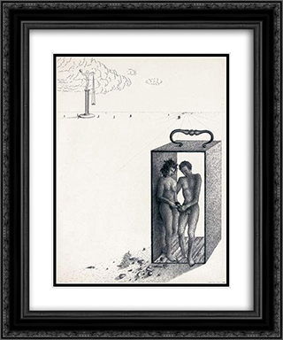 Adam et Eve 20x24 Black or Gold Ornate Framed and Double Matted Art Print by Leon Arthur Tutundjian