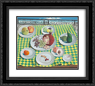 Dejeuner de fruits 22x20 Black or Gold Ornate Framed and Double Matted Art Print by Leon Arthur Tutundjian