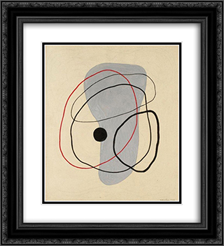 La Boule Noire 20x22 Black or Gold Ornate Framed and Double Matted Art Print by Leon Arthur Tutundjian