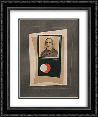 Louis Pasteur 20x24 Black or Gold Ornate Framed and Double Matted Art Print by Leon Arthur Tutundjian