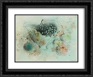 Nature morte a la coupe de fruits 24x20 Black or Gold Ornate Framed and Double Matted Art Print by Leon Arthur Tutundjian