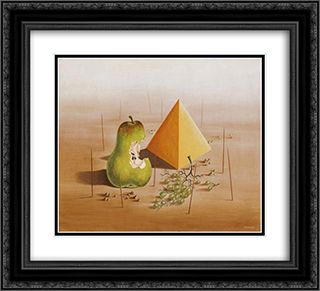 Poire et raisins 22x20 Black or Gold Ornate Framed and Double Matted Art Print by Leon Arthur Tutundjian