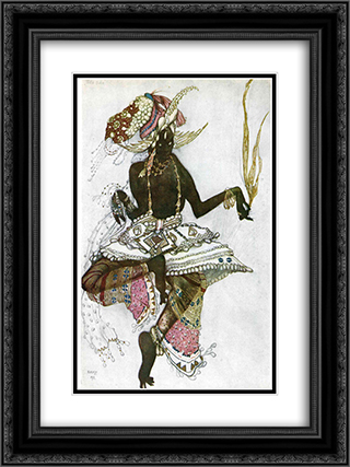 Arabic dancer 18x24 Black or Gold Ornate Framed and Double Matted Art Print by Leon Bakst