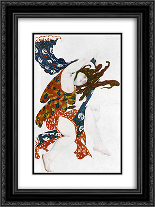 Ballet Music - Introduction (Humphrey Searle) 18x24 Black or Gold Ornate Framed and Double Matted Art Print by Leon Bakst
