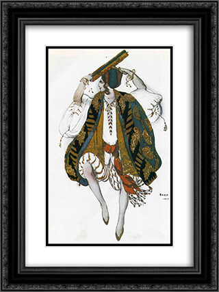 Cleopatre danse juive 18x24 Black or Gold Ornate Framed and Double Matted Art Print by Leon Bakst