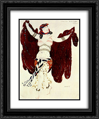Cleopatre syrian dance 20x24 Black or Gold Ornate Framed and Double Matted Art Print by Leon Bakst