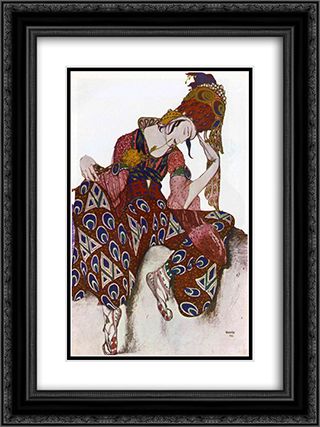 Costume Design for Nijinsky 18x24 Black or Gold Ornate Framed and Double Matted Art Print by Leon Bakst