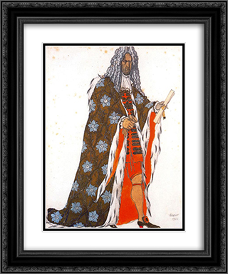 Costume design for The Master of Ceremonies, from Sleeping Beauty 20x24 Black or Gold Ornate Framed and Double Matted Art Print by Leon Bakst