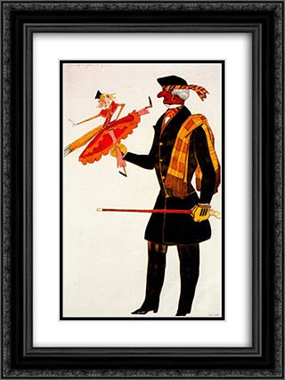 Costume for the Englishman, from La Boutique Fantastique 18x24 Black or Gold Ornate Framed and Double Matted Art Print by Leon Bakst