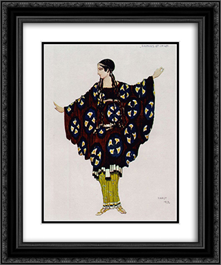 Daphnis and Chloe costume 20x24 Black or Gold Ornate Framed and Double Matted Art Print by Leon Bakst