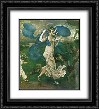 Downpour 20x22 Black or Gold Ornate Framed and Double Matted Art Print by Leon Bakst