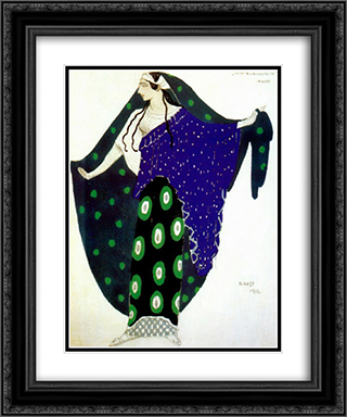 Helene de Sparte Ida Rubinstein in act IV 20x24 Black or Gold Ornate Framed and Double Matted Art Print by Leon Bakst