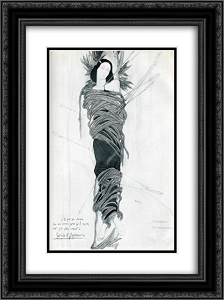 Ida Rubinstein 18x24 Black or Gold Ornate Framed and Double Matted Art Print by Leon Bakst
