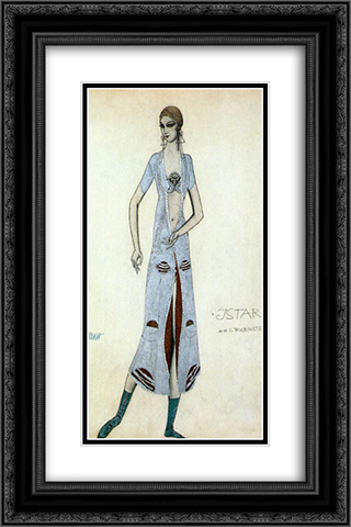 Istar Ida Rubinstein as Istar 16x24 Black or Gold Ornate Framed and Double Matted Art Print by Leon Bakst