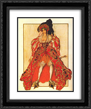 La legende de Joseph Potiphar's wife 20x24 Black or Gold Ornate Framed and Double Matted Art Print by Leon Bakst
