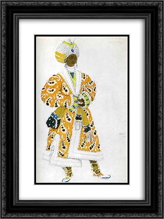 Le dieu bleu a young rajah 18x24 Black or Gold Ornate Framed and Double Matted Art Print by Leon Bakst