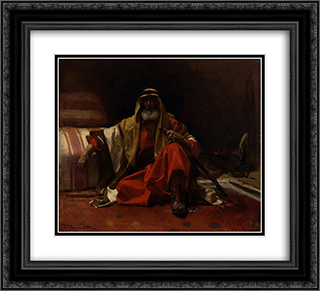 An Arab Sheik 22x20 Black or Gold Ornate Framed and Double Matted Art Print by Leon Bonnat