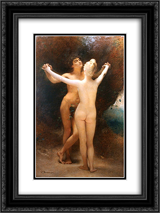 Idylle 18x24 Black or Gold Ornate Framed and Double Matted Art Print by Leon Bonnat