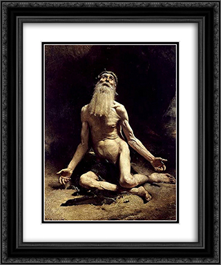 Job 20x24 Black or Gold Ornate Framed and Double Matted Art Print by Leon Bonnat
