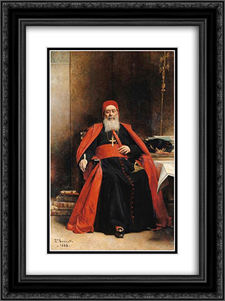 Le cardinal Charles Lavigerie 18x24 Black or Gold Ornate Framed and Double Matted Art Print by Leon Bonnat