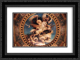 Le Triomphe de l'Art 24x18 Black or Gold Ornate Framed and Double Matted Art Print by Leon Bonnat