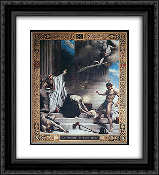 Martyrdom of St. Denis 20x22 Black or Gold Ornate Framed and Double Matted Art Print by Leon Bonnat