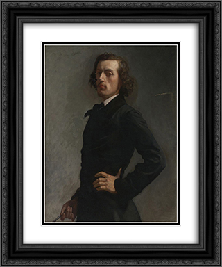 Portrait of Monsieur Allard 20x24 Black or Gold Ornate Framed and Double Matted Art Print by Leon Bonnat