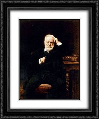 Portrait of Victor Hugo 20x24 Black or Gold Ornate Framed and Double Matted Art Print by Leon Bonnat
