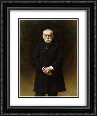 William Thompson Walters 20x24 Black or Gold Ornate Framed and Double Matted Art Print by Leon Bonnat