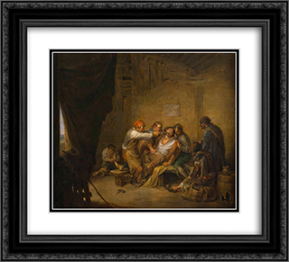 El sacamuelas 22x20 Black or Gold Ornate Framed and Double Matted Art Print by Leonardo Alenza