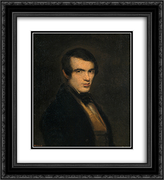 Portrait of a Gentleman 20x22 Black or Gold Ornate Framed and Double Matted Art Print by Leonardo Alenza