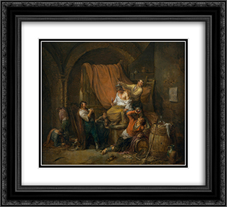 The Triumph of Bacchus 22x20 Black or Gold Ornate Framed and Double Matted Art Print by Leonardo Alenza