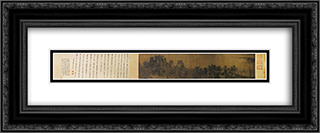 Intimate Scenery of River and Mountains 24x10 Black or Gold Ornate Framed and Double Matted Art Print by Li Tang