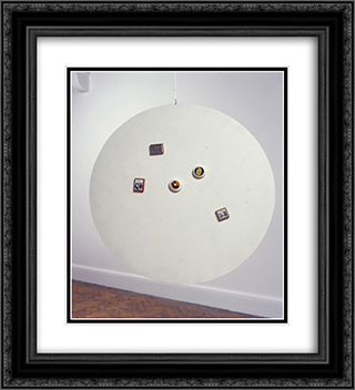 Untitled (Moveable Magnetic Photographic Points on Metallic Disc) 20x22 Black or Gold Ornate Framed and Double Matted Art Print by Li Yuan Chia