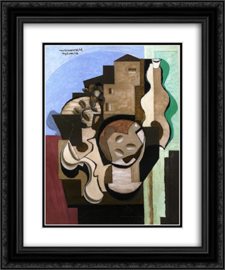 Hyeres I 20x24 Black or Gold Ornate Framed and Double Matted Art Print by Louis Marcoussis