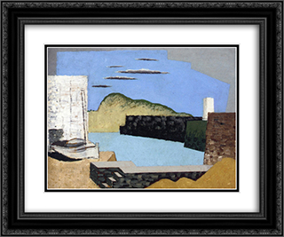 Kerity Landscape 24x20 Black or Gold Ornate Framed and Double Matted Art Print by Louis Marcoussis