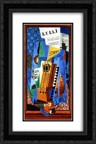 Lulli 16x24 Black or Gold Ornate Framed and Double Matted Art Print by Louis Marcoussis