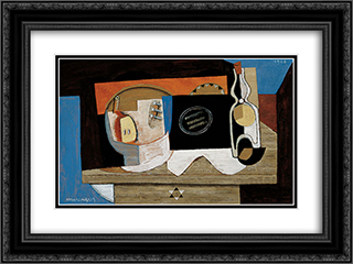 Nature morte 24x18 Black or Gold Ornate Framed and Double Matted Art Print by Louis Marcoussis