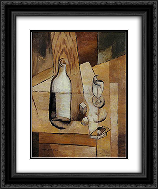 Nature morte cubiste 20x24 Black or Gold Ornate Framed and Double Matted Art Print by Louis Marcoussis