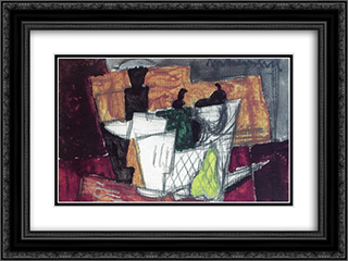 Still Life 24x18 Black or Gold Ornate Framed and Double Matted Art Print by Louis Marcoussis