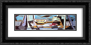 Still Life 24x12 Black or Gold Ornate Framed and Double Matted Art Print by Louis Marcoussis
