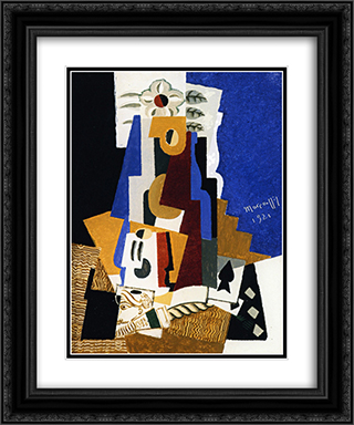 Still LIfe with Ace of Spades 20x24 Black or Gold Ornate Framed and Double Matted Art Print by Louis Marcoussis